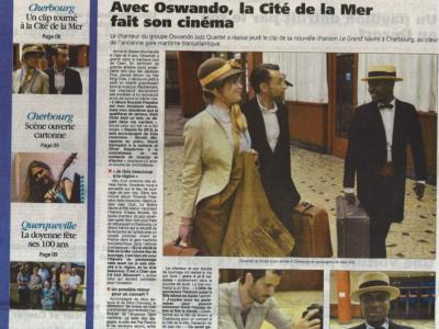 Reportage de France 3 sur le tournage à la Cité de la Mer de Cherbourg du clip d'Oswando Jazz Quartet